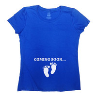 Baby Coming Soon Shirt Pregnancy T-Shirt Pregnancy Announcement TShirt Pregnancy Reveal New Baby Gift For New Mom Funny Humor Tee - SA175