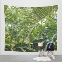 Tropical Greens Wall Tapestry by Lisa Argyropoulos