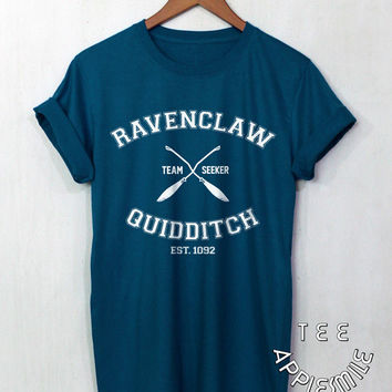 Ravenclaw Quidditch shirt Team t shirt Harry Potter Clothing tee unisex t-shirt size S to 2XL