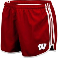 adidas Wisconsin Badgers Women's Princess Running Shorts - Red