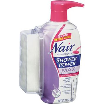 Nair Shower Power Max Cream Hair Remover  11 oz   Walmart com. Nair Shower Power Max Cream Hair Remover  from Walmart