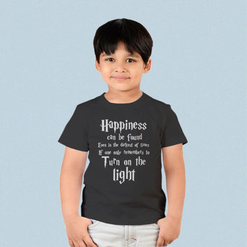 Kids T-shirt - Harry Potter Quotes Happiness Can be Found Even in The Darkest of Times If One Remembers