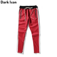 Side Patchwork Side Zipper Streetwear Jersey Men's Pants 2017 Spring New Fashion Kanye West Pants Full Length Men Pencil Pants