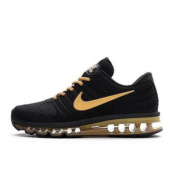 NIKE Fashion Black Golden Trending Sneakers Shone