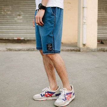 ICIKON3 New fashion mens short jeans brand clothing summer movement board shorts Retro Leisure breathable denim shorts male 7970