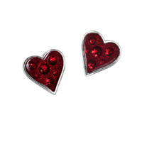 Alchemy Gothic Heart's Blood Red Earrings
