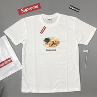 Cheap Women's and men's supreme 2018ss chicken dinner tee t-shirt for sale 1529092663_040