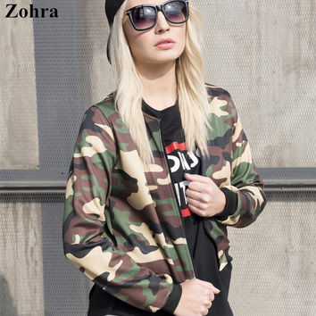 b5db32192 Women's Girls Clothing Bomber Jacket 3D Printed Camouflage Chaqu