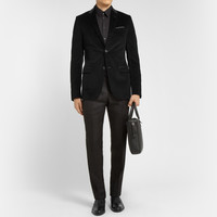 Gucci - Slim-Fit Leather-Collar Corduroy Blazer | MR PORTER