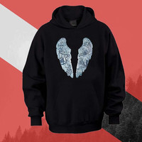 Coldplay Ghost Story Bird Hoodie Sweatshirt Sweater Shirt black white and beauty variant color Unisex size