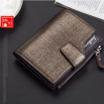 Zipper Wallet-Men's Microfiber Leather