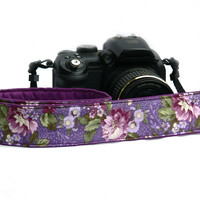 Floral dSLR Camera Strap. Flowers Camera Strap. Women accessories