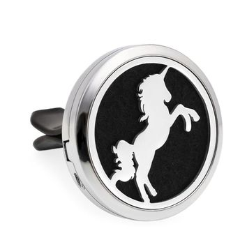 Tree of Life Unicorn Sea Horse 30mm Car Diffuser Locket Vent Clip Essential Oil Aromatherapy Diffuser Perfume Locket 10pcs Pads
