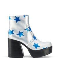 Buffy Silver Blue Stars Leather