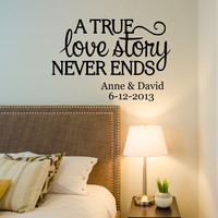 Love Story Quote Wall Decal- by Decor Designs Decals, love story decal, bedroom decals,family name, family signs, Every Love Story, Love decal,Romantic Decal PP1