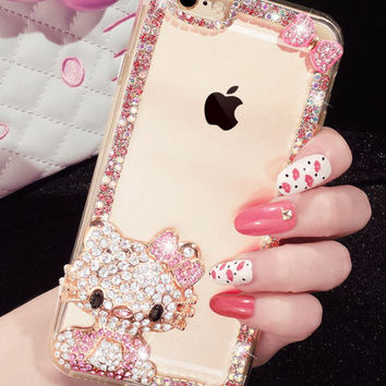 Silicone Rhinestone Case for iPhone 5 5s 6 6s 6 6sPlus