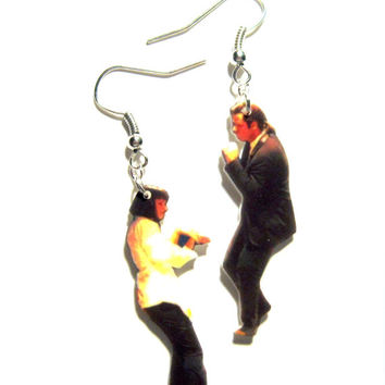 mia and vincent earrings, dance scene, geekery, gifts for nerds