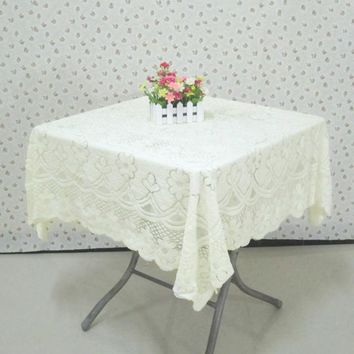 Vintage Europe Style Lace Tablecloth Non-Slip Table Cover Wedding Party Tea Coffee Table Cloth Home Textile