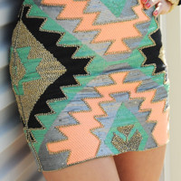 Life Of the Party Skirt: Multi | Hope's