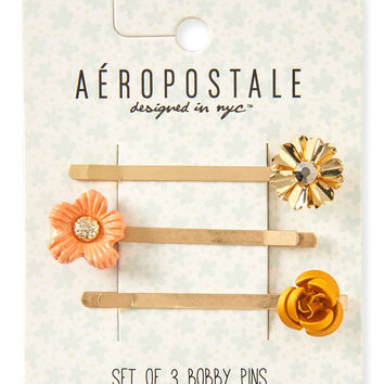 Floral Bobby Pin 3-Pack
