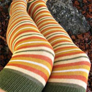Sock Dreams - Brigid Striped Over the Knee