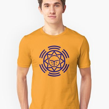 'African Shield In Two Colors' T-Shirt by Kevin L Brooks