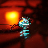 Miniature dragongly GLOW in the DARK necklace in by Papillon9
