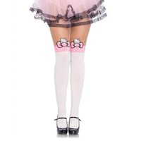 Hello Kitty Pink and White Tights