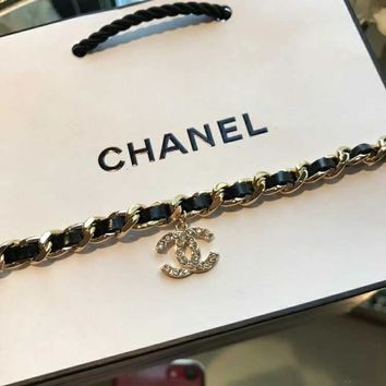 2018 New Trending Chanel C logo high carbon zp Pearl bracelet hand chain in 18K gold plating