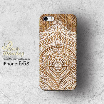 Vintage Bali white wood Pattern, Unique Decoupage case, Samsung galaxy S4, iPhone 5/5S, iPhone 4/4S, iPhone 3Gs case.