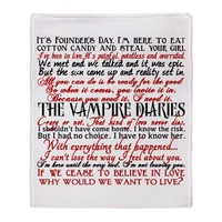 Vampire Diaries Quotes Throw Blanket by epiclove