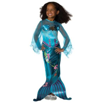 Cute One Piece With Pearl Mermaid Toddler Costumes