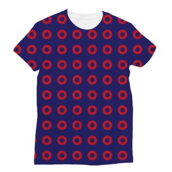 Red Circle Donut Classic Sublimation Women's T-Shirt