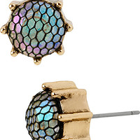 PROM PARTY FISHNET STUD EARRING CRYSTAL