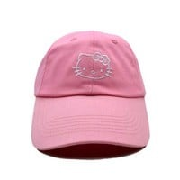 DCCKUNT Pink Hello Kitty Printed Cotton Baseball Golf Cap