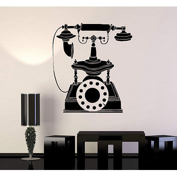 Vinyl Wall Decal Retro Phone Vintage Style Home Decoration Stickers Unique Gift (ig4888)