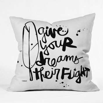 Kal Barteski Give Your Dreams Throw Pillow