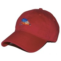 Fishing Fly Needlepoint Hat in Rust Red by Smathers & Branson