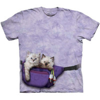FANNY PACK KITTENS The Mountain Funny Cute Cat Feline Pet T-Shirt S-5XL NEW