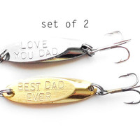Love you dad fishing lure - father of the bride - gift for dad, fishing lure set, best dad ever, fathers day