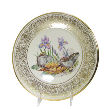 Lenox Golden Crowned Kinglets, Boehm American Bird Plate Annual Limited Edition Birds Circa 1979