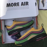 Nike Air Max 1 / 97 VF SW Sean Wotherspoon Hybrid AJ4219-407 Sport Running Shoes - Best Online Sale