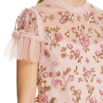 Needle & Thread Carnation Sequin Top | Nordstrom