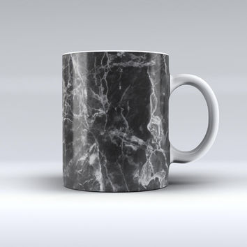 The Smooth Black Marble ink-Fuzed Ceramic Coffee Mug