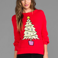 Wildfox Couture Baby Christmas Tree Sweater in Red
