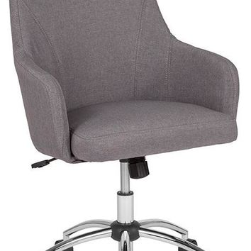 Rennes Home and Office Upholstered High Back Chair in Light Gray Fabric [BT-90509H-LGY-F-GG]