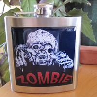 Zombie Liquor Hip Flask Stainless Steel 6 ounce