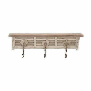 Classy Wood Metal Ps Wall Shelf