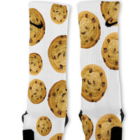 Chocolate Chip Cookies Custom Nike Elite Socks