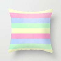 Light and Airy Throw Pillow by Elizabeth